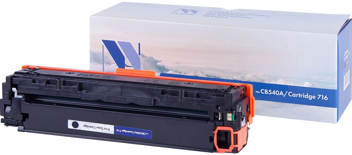 NV Print NV-CB540A/Canon716Bk, Black тонер-картридж для HP Color LaserJet CM1312MFP/CP1215/CP1515/CP1518/Canon i-SENSYS LBP 5050/MF8030CN/8050CN/HP Color LaserJet CM1312MFP/CP1215/CP1515/CP1518NV-CB540A/Canon716BkСовместимый лазерный картридж NV Print NV-CB540A/Canon716Bk для печатающих устройств HP и Canon - это альтернатива приобретению оригинальных расходных материалов. При этом качество печати остается высоким. Картридж обеспечивает повышенную чёткость чёрного текста и плавность переходов оттенков серого цвета и полутонов, позволяет отображать мельчайшие детали изображения.Лазерные принтеры, копировальные аппараты и МФУ являются более выгодными в печати, чем струйные устройства, так как лазерных картриджей хватает на значительно большее количество отпечатков, чем обычных. Для печати в данном случае используются не чернила, а тонер.