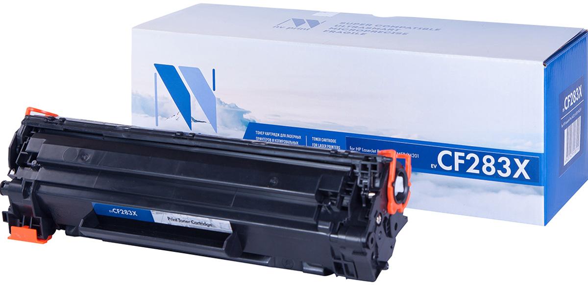 NV Print NV-CF283X, Black тонер-картридж для HP LaserJet Pro M225 MFP/M201NV-CF283XСовместимый лазерный картридж NV Print NV-CF283X для печатающих устройств HP LaserJet - это альтернатива приобретению оригинальных расходных материалов. При этом качество печати остается высоким. Картридж обеспечивает повышенную чёткость чёрного текста и плавность переходов оттенков серого цвета и полутонов, позволяет отображать мельчайшие детали изображения.Лазерные принтеры, копировальные аппараты и МФУ являются более выгодными в печати, чем струйные устройства, так как лазерных картриджей хватает на значительно большее количество отпечатков, чем обычных. Для печати в данном случае используются не чернила, а тонер.