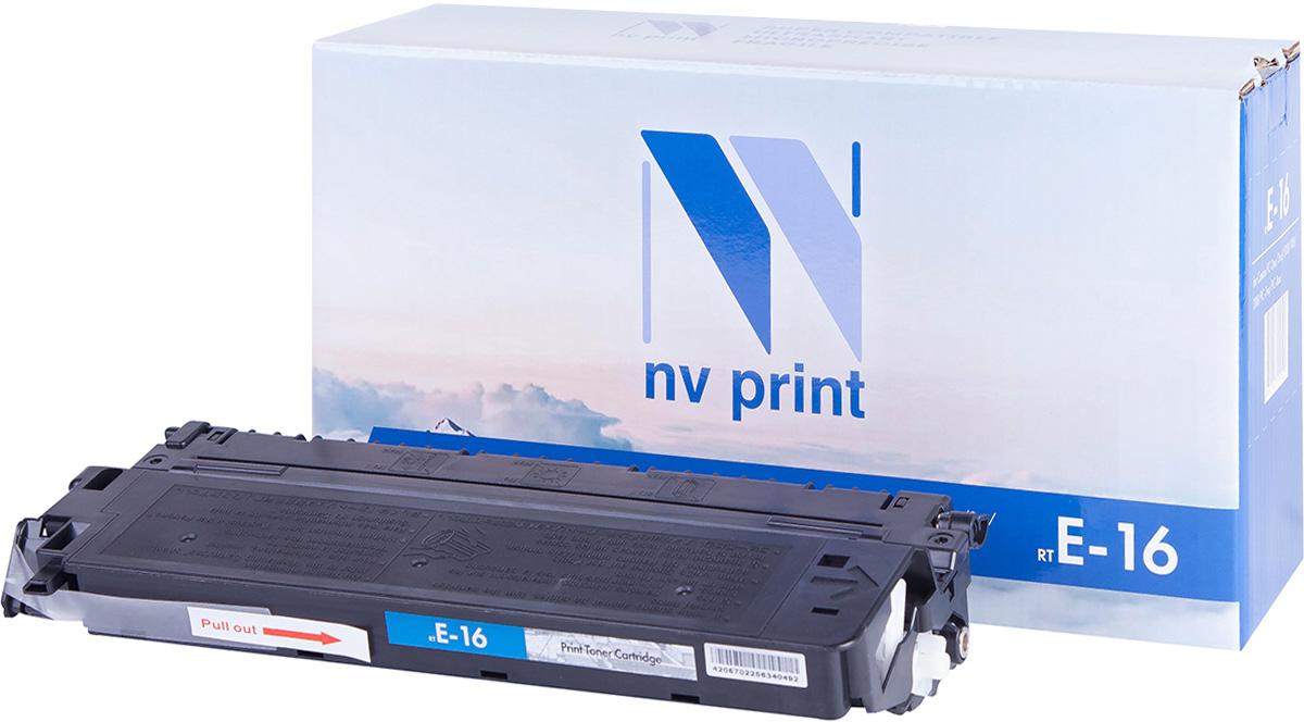 NV Print NV-E16, Black тонер-картридж для Canon FC-1xx/2xx/3xx/530/7xx/8xxNV-E16Совместимый лазерный картридж NV Print NV-E16 для печатающих устройств Canon - это альтернатива приобретению оригинальных расходных материалов. При этом качество печати остается высоким. Картридж обеспечивает повышенную чёткость чёрного текста и плавность переходов оттенков серого цвета и полутонов, позволяет отображать мельчайшие детали изображения.Лазерные принтеры, копировальные аппараты и МФУ являются более выгодными в печати, чем струйные устройства, так как лазерных картриджей хватает на значительно большее количество отпечатков, чем обычных. Для печати в данном случае используются не чернила, а тонер.