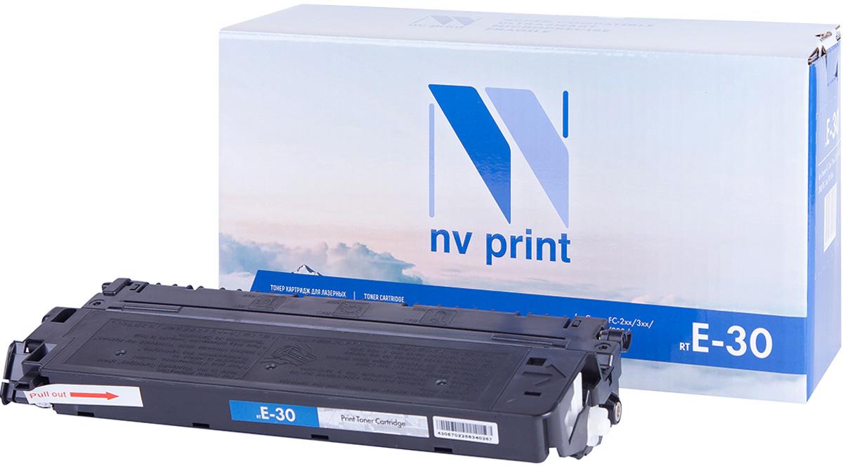 NV Print NV-E30, Black тонер-картридж для Canon FC-200/300/500 Series; PC-700/PC-800 SeriesNV-E30Совместимый лазерный картридж NV Print NV-E30 для печатающих устройств Canon - это альтернатива приобретению оригинальных расходных материалов. При этом качество печати остается высоким. Картридж обеспечивает повышенную чёткость чёрного текста и плавность переходов оттенков серого цвета и полутонов, позволяет отображать мельчайшие детали изображения.Лазерные принтеры, копировальные аппараты и МФУ являются более выгодными в печати, чем струйные устройства, так как лазерных картриджей хватает на значительно большее количество отпечатков, чем обычных. Для печати в данном случае используются не чернила, а тонер.