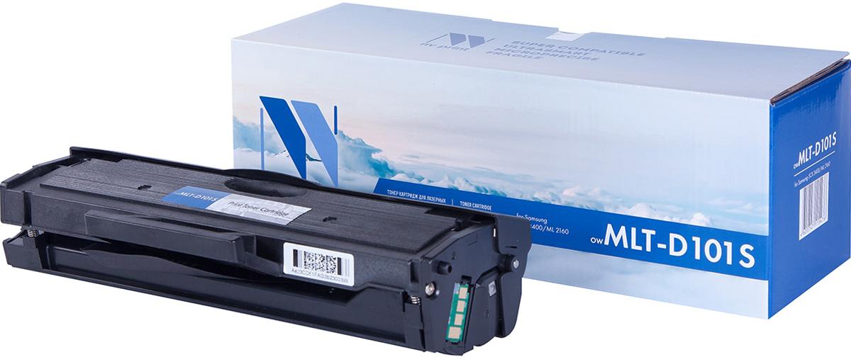 NV Print NV-MLTD101S, Black тонер-картридж для Samsung ML-2160/2165/2165W/2167/2168W/SCX-3400/3405/3407NV-MLTD101SСовместимый лазерный картридж NV Print NV-MLTD101S для печатающих устройств Samsung - это альтернатива приобретению оригинальных расходных материалов. При этом качество печати остается высоким. Картридж обеспечивает повышенную чёткость чёрного текста и плавность переходов оттенков серого цвета и полутонов, позволяет отображать мельчайшие детали изображения.Лазерные принтеры, копировальные аппараты и МФУ являются более выгодными в печати, чем струйные устройства, так как лазерных картриджей хватает на значительно большее количество отпечатков, чем обычных. Для печати в данном случае используются не чернила, а тонер.