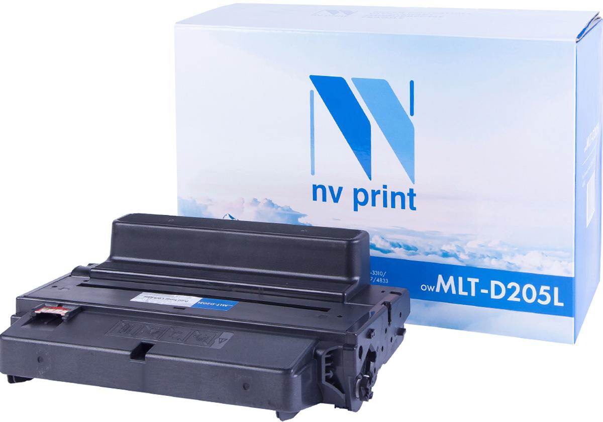 NV Print NV-MLTD205L, Black тонер-картридж для Samsung ML-3310/ML-3710/SCX-4833/SCX-5637NV-MLTD205LСовместимый лазерный картридж NV Print NV-MLTD205L для печатающих устройств Samsung - это альтернатива приобретению оригинальных расходных материалов. При этом качество печати остается высоким. Картридж обеспечивает повышенную чёткость чёрного текста и плавность переходов оттенков серого цвета и полутонов, позволяет отображать мельчайшие детали изображения.Лазерные принтеры, копировальные аппараты и МФУ являются более выгодными в печати, чем струйные устройства, так как лазерных картриджей хватает на значительно большее количество отпечатков, чем обычных. Для печати в данном случае используются не чернила, а тонер.