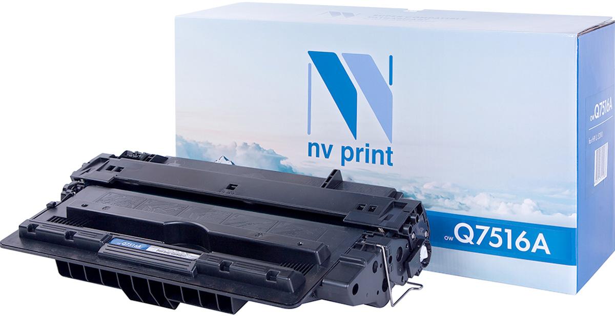 NV Print NV-Q7516A, Black тонер-картридж для HP LaserJet 5200/5200TN/5200DTNNV-Q7516AСовместимый лазерный картридж NV Print Q7516A для печатающих устройств HP - это альтернатива приобретению оригинальных расходных материалов. При этом качество печати остается высоким. Картридж обеспечивает повышенную чёткость чёрного текста и плавность переходов оттенков серого цвета и полутонов, позволяет отображать мельчайшие детали изображения.Лазерные принтеры, копировальные аппараты и МФУ являются более выгодными в печати, чем струйные устройства, так как лазерных картриджей хватает на значительно большее количество отпечатков, чем обычных. Для печати в данном случае используются не чернила, а тонер.