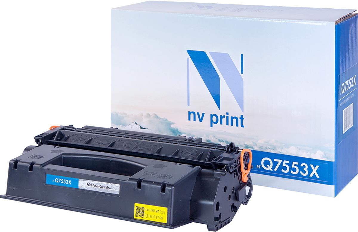 NV Print NV-Q7553X, Black тонер-картридж для HP LaserJet P2014/P2015/M2727NV-Q7553XСовместимый лазерный картридж NV Print NV-Q7553X для печатающих устройств HP LaserJet и Canon - это альтернатива приобретению оригинальных расходных материалов. При этом качество печати остается высоким. Картридж обеспечивает повышенную чёткость чёрного текста и плавность переходов оттенков серого цвета и полутонов, позволяет отображать мельчайшие детали изображения.Лазерные принтеры, копировальные аппараты и МФУ являются более выгодными в печати, чем струйные устройства, так как лазерных картриджей хватает на значительно большее количество отпечатков, чем обычных. Для печати в данном случае используются не чернила, а тонер.