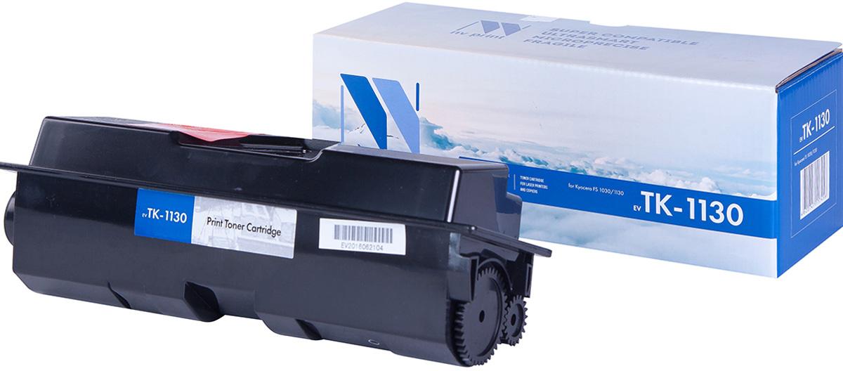 NV Print NV-TK1130, Black тонер-картридж для Kyocera FS-1030MFP/1130MFPNV-TK1130Совместимый лазерный картридж NV Print NV-TK1130 для печатающих устройств Kyocera - это альтернатива приобретению оригинальных расходных материалов. При этом качество печати остается высоким. Картридж обеспечивает повышенную чёткость чёрного текста и плавность переходов оттенков серого цвета и полутонов, позволяет отображать мельчайшие детали изображения.Лазерные принтеры, копировальные аппараты и МФУ являются более выгодными в печати, чем струйные устройства, так как лазерных картриджей хватает на значительно большее количество отпечатков, чем обычных. Для печати в данном случае используются не чернила, а тонер.