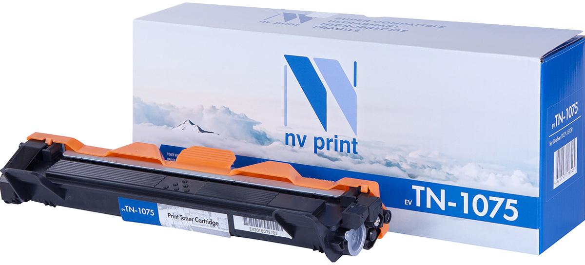 NV Print NV-TN1075, Black тонер-картридж для Brother HL1012/DCP1510/1512/MFC1815/1112RNV-TN1075Совместимый лазерный картридж NV Print NV-TN1075 для печатающих устройствBrother - это альтернатива приобретению оригинальных расходных материалов. При этом качество печати остается высоким. Картридж обеспечивает повышенную чёткость чёрного текста и плавность переходов оттенков серого цвета и полутонов, позволяет отображать мельчайшие детали изображения.Лазерные принтеры, копировальные аппараты и МФУ являются более выгодными в печати, чем струйные устройства, так как лазерных картриджей хватает на значительно большее количество отпечатков, чем обычных. Для печати в данном случае используются не чернила, а тонер.