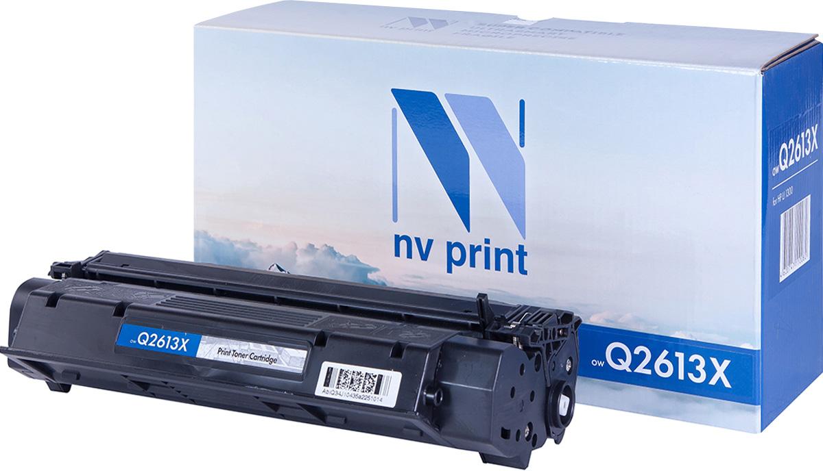 NV Print Q2613X, Black тонер-картридж для HP LaserJet 1300NV-Q2613XСовместимый лазерный картридж NV Print Q2613X для печатающих устройств HP LaserJet - это альтернатива приобретению оригинальных расходных материалов. При этом качество печати остается высоким. Картридж обеспечивает повышенную чёткость чёрного текста и плавность переходов оттенков серого цвета и полутонов, позволяет отображать мельчайшие детали изображения.Лазерные принтеры, копировальные аппараты и МФУ являются более выгодными в печати, чем струйные устройства, так как лазерных картриджей хватает на значительно большее количество отпечатков, чем обычных. Для печати в данном случае используются не чернила, а тонер.