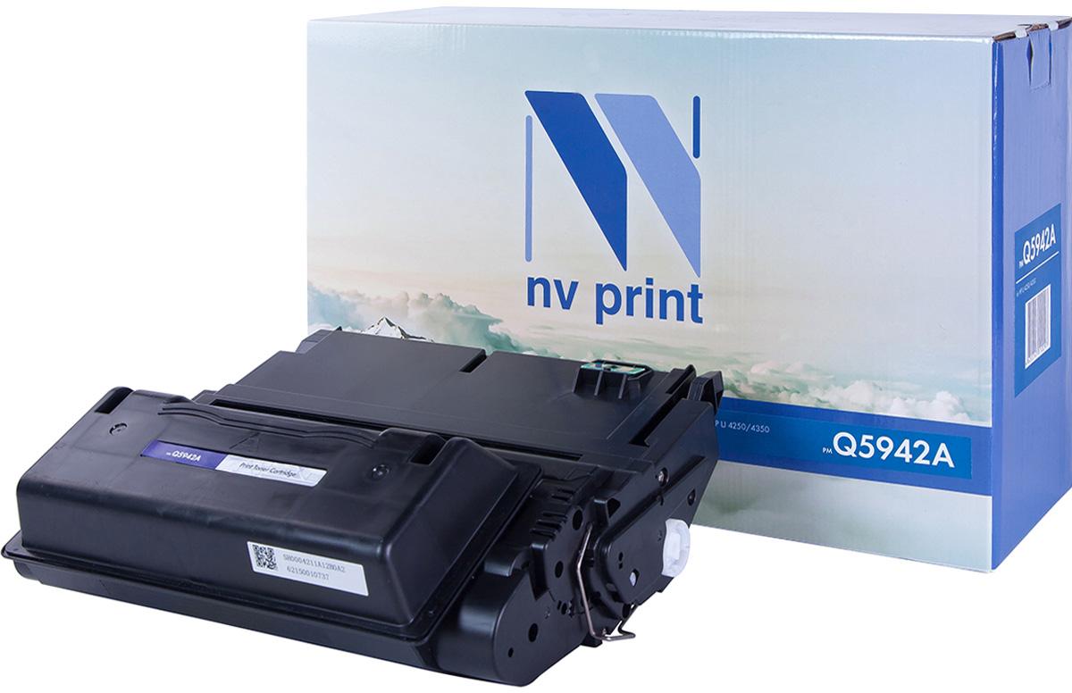 NV Print Q5942A, Black тонер-картридж для HP LaserJet 4250/4350NV-Q5942AСовместимый лазерный картридж NV Print Q5942A для печатающих устройств HP - это альтернатива приобретению оригинальных расходных материалов. При этом качество печати остается высоким. Картридж обеспечивает повышенную чёткость чёрного текста и плавность переходов оттенков серого цвета и полутонов, позволяет отображать мельчайшие детали изображения.Лазерные принтеры, копировальные аппараты и МФУ являются более выгодными в печати, чем струйные устройства, так как лазерных картриджей хватает на значительно большее количество отпечатков, чем обычных. Для печати в данном случае используются не чернила, а тонер.