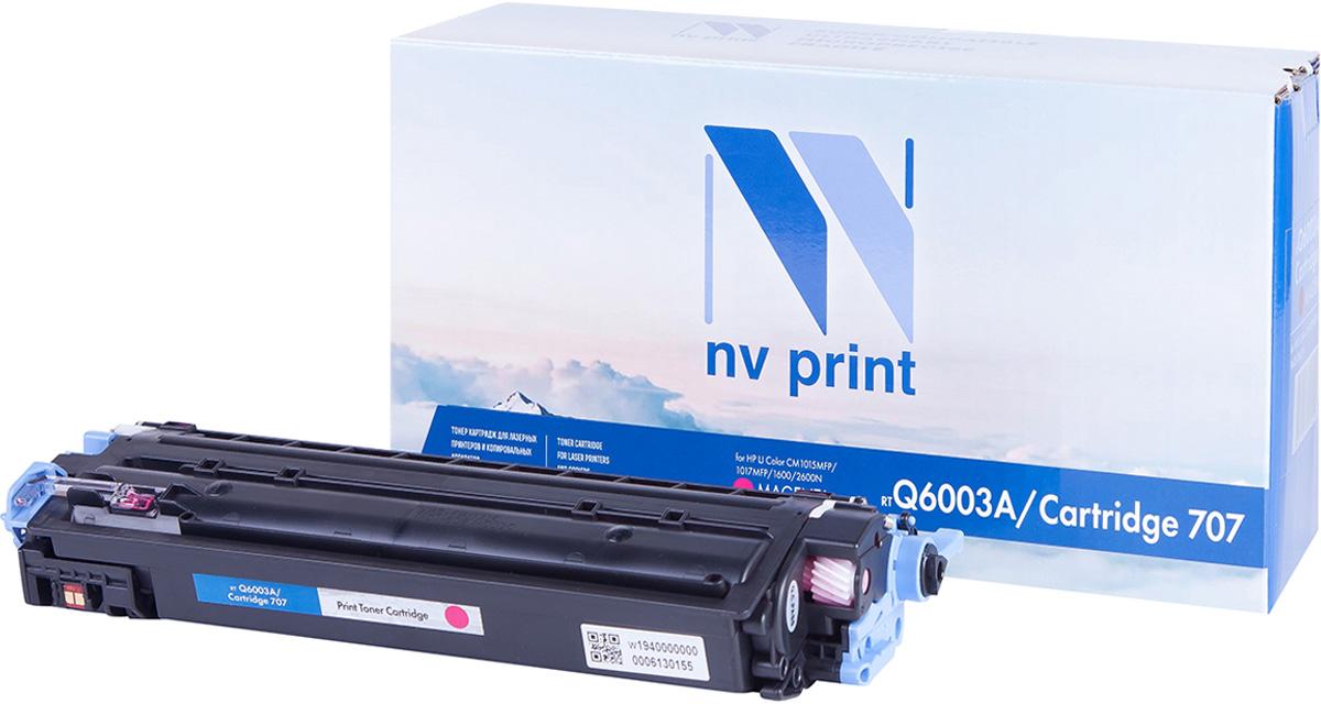 NV Print Q6003A/CAN707M, Magenta тонер-картридж для HP Color LJ CM1015MFP/CM1017MFP/1600/2600N/2605/Canon LBP 5000NV-Q6003A/CAN707MСовместимый лазерный картридж NV Print Q6003A/CAN707M для печатающих устройств HP и Canon - это альтернатива приобретению оригинальных расходных материалов. При этом качество печати остается высоким. Картридж обеспечивает повышенную чёткость и плавность переходов оттенков цвета и полутонов, позволяет отображать мельчайшие детали изображения.Лазерные принтеры, копировальные аппараты и МФУ являются более выгодными в печати, чем струйные устройства, так как лазерных картриджей хватает на значительно большее количество отпечатков, чем обычных. Для печати в данном случае используются не чернила, а тонер.