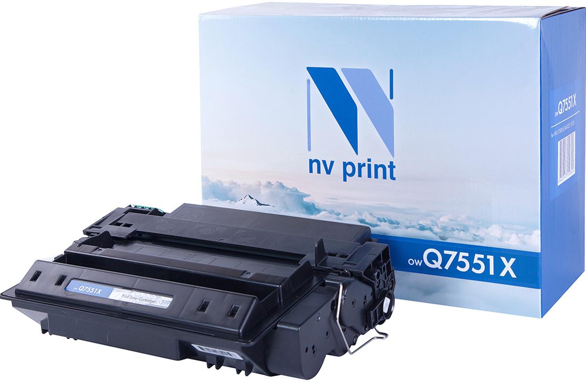NV Print Q7551X, Black тонер-картридж для HP LaserJet P3005/M3035/M3027Q7551XСовместимый лазерный картридж NV Print Q7551X для печатающих устройств HP - это альтернатива приобретению оригинальных расходных материалов. При этом качество печати остается высоким. Картридж обеспечивает повышенную чёткость чёрного текста и плавность переходов оттенков серого цвета и полутонов, позволяет отображать мельчайшие детали изображения.Лазерные принтеры, копировальные аппараты и МФУ являются более выгодными в печати, чем струйные устройства, так как лазерных картриджей хватает на значительно большее количество отпечатков, чем обычных. Для печати в данном случае используются не чернила, а тонер.