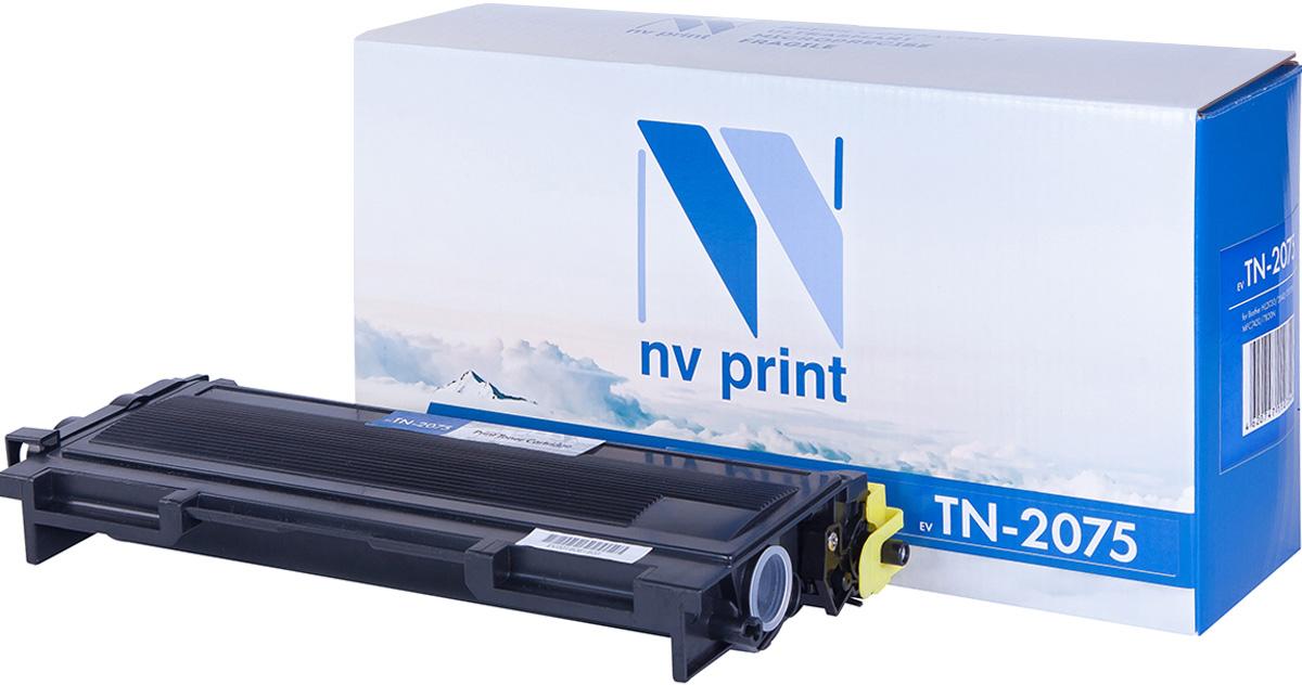 NV Print TN2075, Black тонер-картридж для Brother HL2030/2040/2070N, Brother MFC DCP-7010R/7025R/7420/7820N, FAX2825/2920NV-TN2075Совместимый лазерный картридж NV Print TN2075 для печатающих устройств Brother - это альтернатива приобретению оригинальных расходных материалов. При этом качество печати остается высоким. Картридж обеспечивает повышенную чёткость чёрного текста и плавность переходов оттенков серого цвета и полутонов, позволяет отображать мельчайшие детали изображения.Лазерные принтеры, копировальные аппараты и МФУ являются более выгодными в печати, чем струйные устройства, так как лазерных картриджей хватает на значительно большее количество отпечатков, чем обычных. Для печати в данном случае используются не чернила, а тонер.
