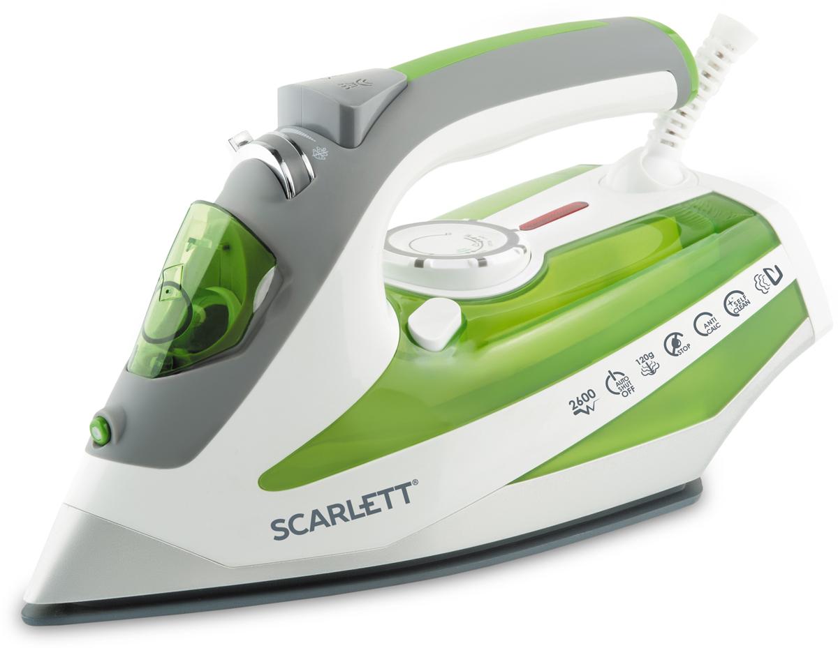 Scarlett SC-SI30K08, Green утюгSC-SI30K08Рабочая поверхность KeramoIONIC - керамическая подошва утюга всостав которой входит материал - турмалин, обладает функциейионизации и снимает статическое электричество с ткани.Подошва KeramoProимеет 100% стойкость к пригораниюБлагодаря высокой мощности,достигается большая интенсивность отпаривания