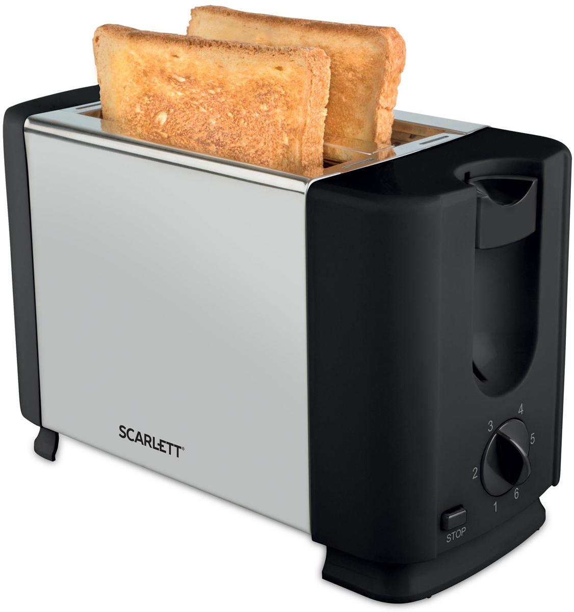 Scarlett SC-TM11012, Steel тостерSC-TM11012Scarlett SC-TM11012 - это устройство, при помощи которого вы сможете готовить поджаренные и ароматные тосты. Прибор имеет 6 степеней прожарки, а также регулятор степени поджаривания и кнопку отмены. Тостер отличается надежностью и простотой в использовании, что обеспечивается наличием съемного поддона для крошек и отсека для хранения шнура.