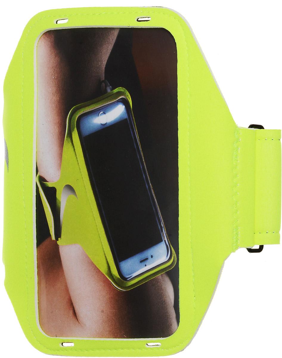Чехол для телефона на руку Nike Lean Arm Band, цвет: салатовый, серый чехол для телефона на руку nike printed lean arm band цвет синий черный