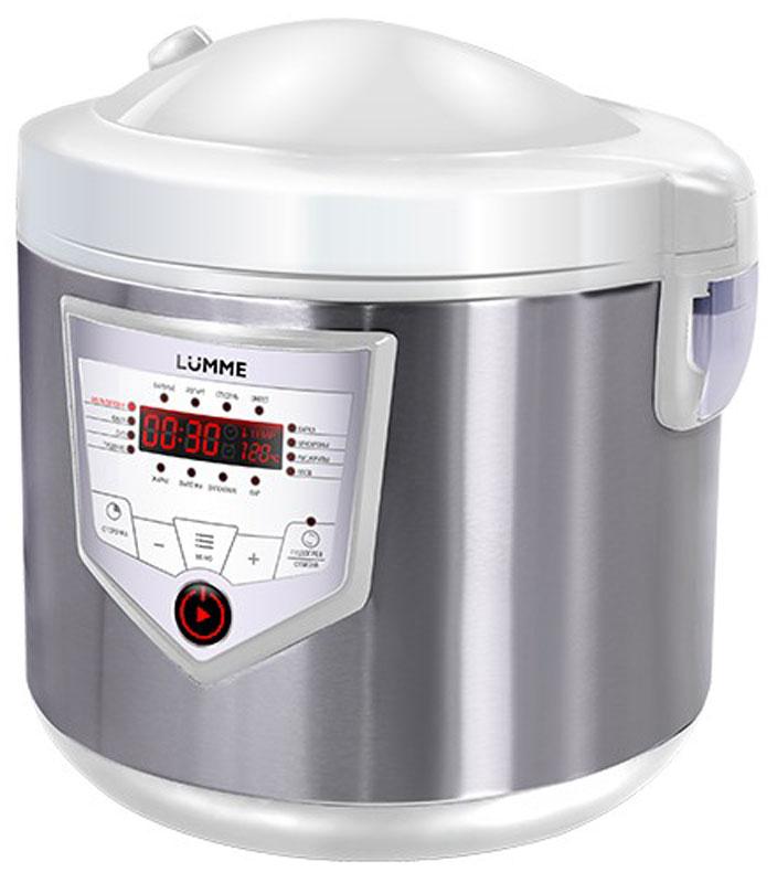 Lumme LU-1446 Chef Pro, White Steel мультиваркаLU-1446Мультиварка LU-1446 Chef Pro - это высокотехнологичная кухонная техника для легкого приготовления всевозможных блюд с сохранением всех питательных свойств продуктов!Программы для мультиварок - это удобно, быстро и очень вкусно! Перейдите на новый уровень владения кулинарным искусством с помощью готовых программ Lumme! 46 программ приготовления (16 автоматических программ и 30 ручных настроек) позволяют приготовить множество новых блюд! Помимо стандартного для большинства мультиварок набора блюд теперь вы можете готовить йогурты, жаркое, студень, заливное, буженину, томить мясо, варить варенье или морс.Для каждой из 16 автоматических программ подобраны оптимальные значения времени и температуры приготовления, загружаемые по умолчанию при запуске программы.Одной из главных особенностей мультиварки Lumme LU-1446 Chef Pro является возможность ручной настройки времени (от 1 минуты до 24 часов с шагом в 1 минуту и 1 час) и температуры приготовления (от 30 до 170°C с шагом в 1°C) в настройках любой программы, что позволяет задать 30 вариантов ручных настроек программ приготовления. Вы можете изменить автоматические настройки, как до начала программы приготовления, так и в процессе приготовления. А также вы можете не только задавать, но и сохранять собственные настройки и использовать их в будущем. Ручные настройки в сочетании с вашим опытом помогут добиться наиточнейшего выполнения рецептов и создания новых!Мультиварка Lumme LU-1446 Chef Pro оснащена функцией Автоподогрев, которая запускается автоматически после окончания программы и поддерживает блюдо в горячем состоянии в течение 24 часов.В мультиварке предусмотрена возможность ручного отключения Автоподогрева в момент выбора программы, во время приготовления пищи и после окончания программы с индикатором состояния функции Автоподогрев. Теперь вы можете сами выбрать в любой момент, нужен вам подогрев или нет. Lumme не ограничивает в выборе. Настоящий кулинар все решае