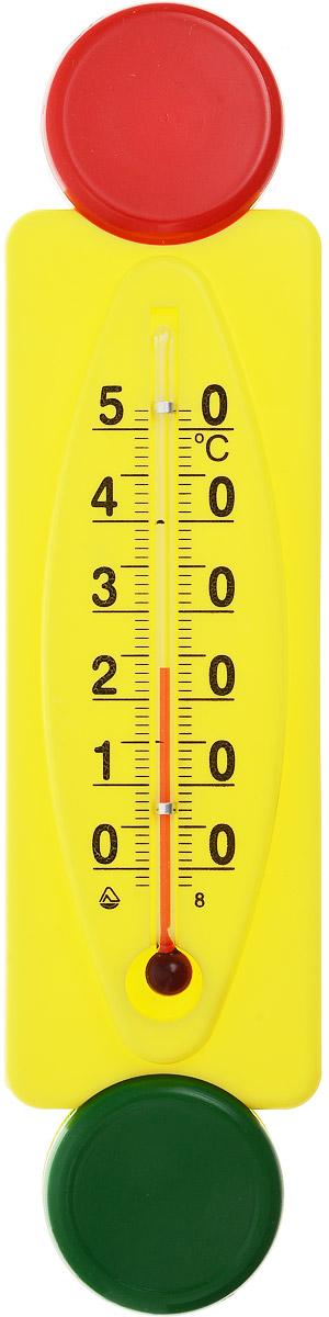 Термометр комнатный Стеклоприбор Светофор. П-16300196Термометр комнатный Стеклоприбор применяется для измерения температуры воздуха в помещении. Термометр выполнен из пластика в виде светофора, а колба изготовлена из ударопрочного стекла. Термометр оснащен широкой, подробной и наглядной шкалой. Изделие имеет широкий рабочий диапазон - от 0 до +50°С со шкалой деления в 10°С. Цена деления составляет 1°С. Изделие имеет специальное отверстие для крепления. Не содержит ртути. Благодаря яркому дизайну такой термометр идеально подойдет для детской комнаты. Для хорошего самочувствия и здоровья идеальный микроклимат в доме создаст температура +18…+24°С.