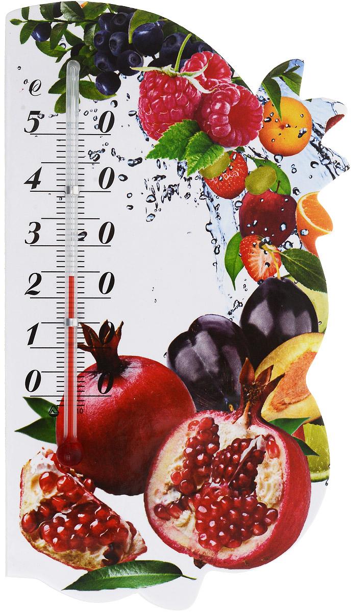 Термометр комнатный Стеклоприбор Сувенир. Фрукты, на магните. 300074_гранат300074_гранатЖидкостный термометр Стеклоприбор Сувенир. Фрукты выполнен в декоративном корпусе из картона. С помощью магнитного крепления такой термометр можно повесить на холодильник.Термометр имеет шкалы измерения температуры по Цельсию (от -2°С до +52°С). Благодаря такому термометру вы всегда будете точно знать, насколько тепло в помещении.Жидкостный термометр Стеклоприбор Сувенир. Фрукты отлично впишется в интерьер вашей кухни, а также станет отличным сувенирным подарком для ваших родных и близких.Размеры термометра: 14,5 х 8 см.
