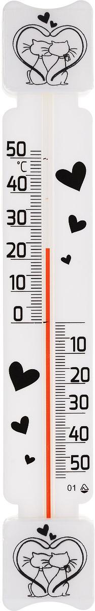 Термометр оконный Стеклоприбор Кошки. ТБ-3М1 исп.5Д300164_черный, кошкиТермометр оконный Стеклоприбор применяется для измерения температуры воздуха на улице. Специально предназначен для пластиковых окон. Корпус термометра выполнен из пластика, а колба изготовлена из ударопрочного стекла. Термометр оснащен широкой, подробной и наглядной шкалой. Изделие имеет широкий рабочий диапазон - от -50 до +50°С с ценой деления 1°С. Благодаря такой шкале термометр отлично подходит для применения в России, Украине, Белоруссии и других странах с умеренным климатом. Не содержит ртути. Модель отличается не только точностью измерений, но и надежностью крепежа. Термометр снабжен двумя одноразовыми липучками. Простота установки является залогом долговечности. Для крепежа достаточно снять пленку с этих липучек (их температура не должна быть ниже 10°С) и прижать измеритель к сухому и чистому стеклу. Термометр всегда точно покажет, какая же температура на улице. С ним погода не преподнесет вам неприятных сюрпризов.