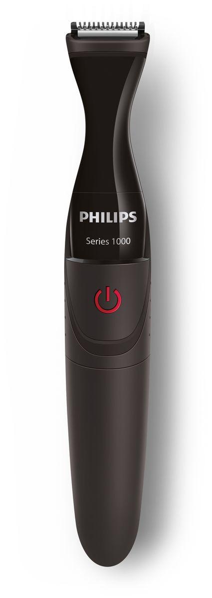 Philips Series 1000 MG1100/16 стайлерMG1100/16С помощью Philips MULTIGROOM серии 1000 вы сможете легко и точно подровнять илипобрить волосы на лице или смоделировать уникальный образ. Усовершенствованныйтриммер и гребни DualCut обеспечивают превосходное подравнивание и стайлинг бороды,а триммер для создания контура позволяет добиваться четких линий.Стайлинг для лица: идеальная форма и четкие контурыТриммер для создания контура: ваш уникальный образТехнологии DualCut: более острые лезвия* для идеально четких линийБритва для создания четких линий и контуровТри гребня для точного подравнивания волосков на лицеЛегко чиститсяМожно промывать под водойЩеточка для простой очистки компактного триммераЛегко использоватьУдобно пользоваться даже в условиях повышенной влажностиБатарея типа AA входит в комплектДолговечностьЛезвия не требуют смазки