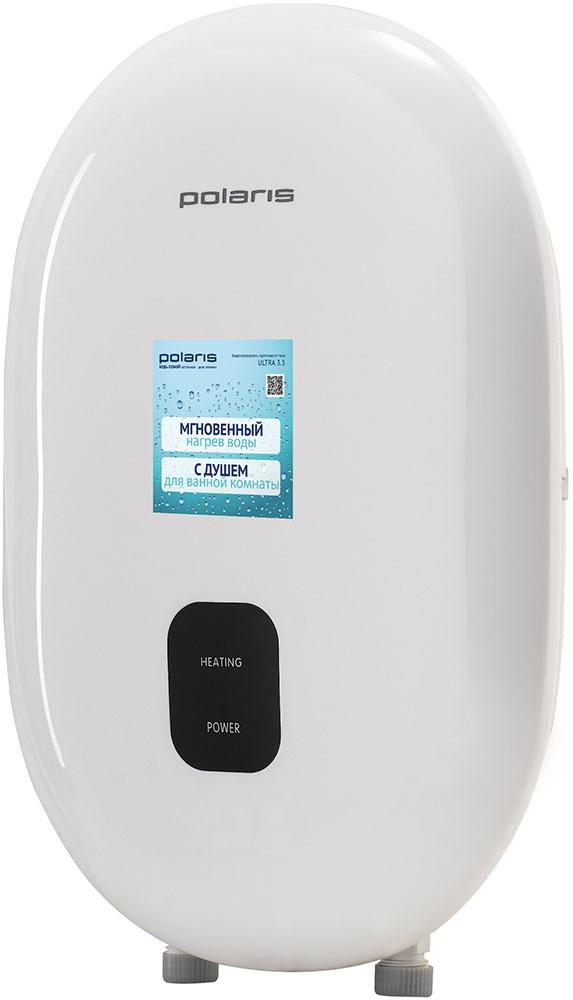 Polaris Ultra 3.5 водонагреватель проточный005259Электрический проточный водонагреватель Polaris Ultra 3.5 - это простое и выгодное решение для домов без горячей воды. Данный нагреватель достаточно мощный и быстро подогреет воду до нужной температуры. Электронный индикатор температуры подскажет, не слишком ли горячая/холодная вода. В комплект входит насадка для душа.Водонагреватель подключается к однофазному источнику питания через двухполюсный выключатель. Этот выключатель устанавливается отдельно от водонагревателя.