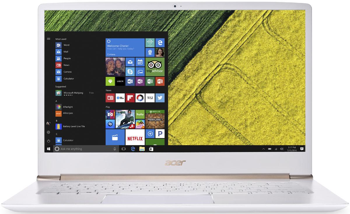 Acer Swift 5 SF514-51-57TN, WhiteSF514-51-57TNAcer Swift 5 SF514-51-57TN - портативный ноутбук с толщиной корпуса 14,58 мм и весом 1,36 кг.Клавиатура с подсветкойБлагодаря подсветке клавиш вы можете продолжать работать даже вечером при тусклом освещении.Благодаря времени автономной работы 13 часов вы сможете работать целый день.Потоковые трансляции без задержек и скорость загрузки до пяти раз быстрее в сравнении стали доступны с решениями на базе технологии 802.11n.Технологии Acer TrueHarmony и Dolby Audio обеспечивают превосходную четкость звучания.Встроенный датчик отпечатка пальца совместим с Windows Hello, что позволяет выполнять безопасный вход в систему буквально одним касанием.Сохраняйте высокую производительность в течение всего дня с новейшими процессорами Intel и длительным временем автономной работы.Точные характеристики зависят от модели.Ноутбук сертифицирован EAC и имеет русифицированную клавиатуру и Руководство пользователя.