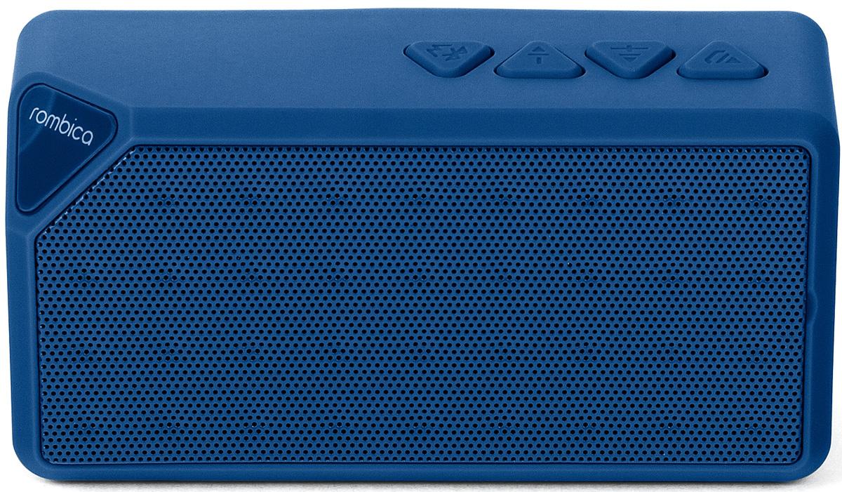 Rombica MySound BT-01 2C, Blue портативная акустическая системаSBT-00012Портативная акустическая система Rombica MySound BT-01 2C совместима со всеми популярными устройствами с поддержкой Bluetooth. Помимо этого она может воспроизводить MP3 и WAV файлы с microSD накопителей. Также колонку можно использовать через AUX-подключение. Прием FM радио без наушников. Сменный аккумулятор 600 мАч обеспечивает долгую работу. MySound BT-01 2C имеет встроенный микрофон для приема звонков.