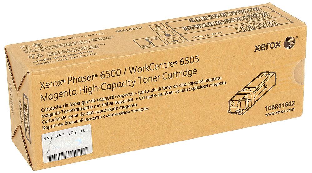 Xerox 106R01602, Magenta тонер-картридж для Phaser 6500/WorkCentre 6505106R01602Тонер-картридж Xerox 106R01602 для лазерных принтеров серии Phaser 6500/WorkCentre 6505. Специально разработан и протестирован для обеспечения наилучшего качества печати изображения. Вы можете рассчитывать на страницу за страницей.