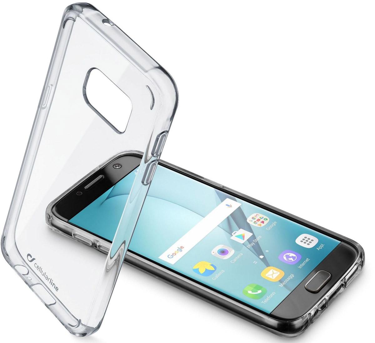 Cellular Line Clear Duo чехол для Samsung Galaxy A5 (2017)CLEARDUOGALA517TЧехол-накладка Cellular Line Clear Duo для Samsung Galaxy A5 (2017) обеспечивает надежную защиту корпуса смартфона от механических повреждений и надолго сохраняет его привлекательный внешний вид. Накладка выполнена из двухкомпонентного материала: жесткая задняя часть и мягкие края. Чехол также обеспечивает свободный доступ ко всем разъемам и клавишам устройства.