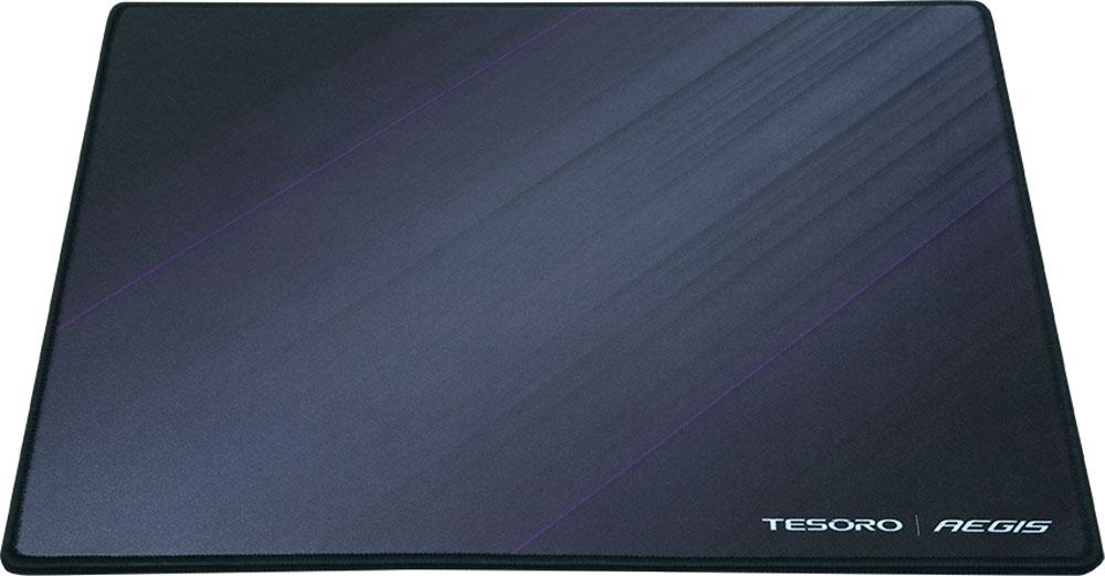 Tesoro Aegis X3, Black игровой коврик для мышиTS-X3Tesoro Aegis X3 - высококачественный тканевый игровой коврик, обеспечивающий легкое скольжение и точное управление курсором. 3D поверхность коврика выполнена из мелкотекстурированной ткани, одинаково подходящей для работы и с оптическими, и с лазерными сенсорами. Края Aegis X3 обрезаны лазером или обшиты, что гарантирует долговечность игровой поверхности.