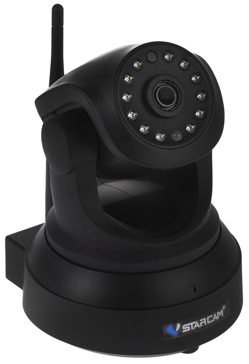 Vstarcam C8824WIP, Black IP камера видеонаблюдения1600000360051Vstarcam C8824WIP - беспроводная поворотная IP камера с Full HD качеством видео, простой настройкой P2P, поддержкой карт памяти до 128 ГБ, а также возможностью просмотра с устройств Apple и Android.Данная модель имеет простое и понятное русскоязычное приложение для настройки, просмотра и управления всеми функциями камеры. Не требуется использовать статические IP адреса, вся работа с камерой максимально упрощена.Запись на карту Micro SD объемом до 128 ГБ происходит циклически, старые файлы автоматически стираются и меняются на новые. Есть возможность удаленного обращения к карте памяти через приложение.Камера может передавать тревожные сообщения на ваш телефон, планшет, компьютер. Выбирая Vstarcam C8824WIP, вы всегда будете в курсе событий.Vstarcam C8824WIP обладает современным дизайном, использовать ее можно как дома или в офисе, так и на производстве, складе или же для загородного дома.