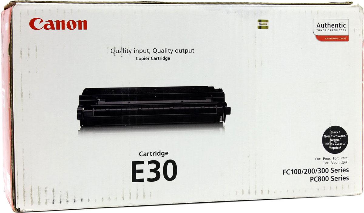 Canon E-30, Black картридж для FC-100/200/300/PC8001491A003Canon E-30 - качественный оригинальный картридж для печатающих устройств Canon. Сочетает в себе высокое качество, компактность и простоту установки, а также большой ресурс печати.