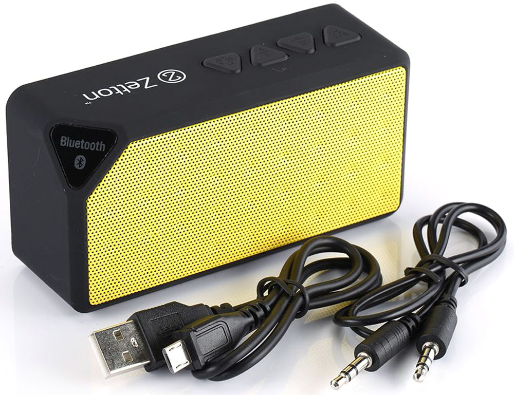 Zetton Parallelepiped, Black Yellow портативная Bluetooth-колонка (ZTLSBSPARBY)
