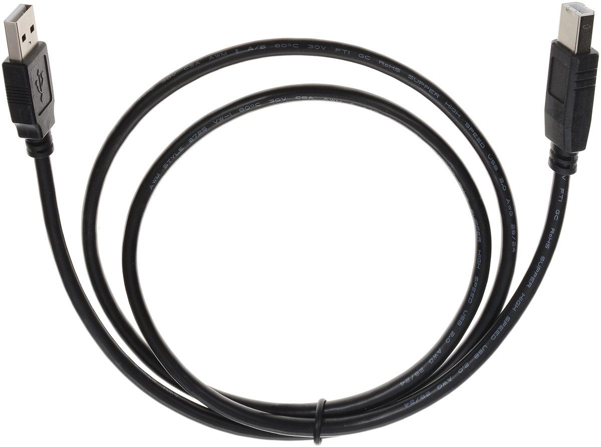 Greenconnect GCR-UPC5M-BB2SG, Black кабель интерфейсный AM/BM (1 м) аксессуар greenconnect usb 2 0 am bm 1 0m black gcr upc5m bb2s 1 0m