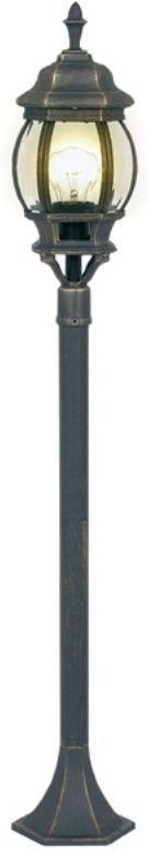 Светильник садовый 3в1 Duwi Praha, цвет: черное золото, 533-915-1115 мм. 24094 524094 5Наземный садово-парковый светильник столб-фонарь - один из четырех садово-парковых светильников серии Прага. Светильники этой серии отличаются исполнением в старом европейском стиле, что несомненно придаст дополнительное очарование вашему дому и участку. Отличительная особенность - возможность сборки в трех размерах: 533/915/1115мм.