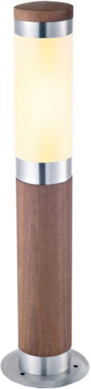 Светильник садовый наземный Duwi Stelo Wood, высота 500 мм. 24112 624112 6Наземный садовый светильник-столбик Duwi Stelo Wood добавит комфорта и тепла, ненавязчиво вписавшись в дизайн вашего участка. Корпус цилиндрической формы изготовлен из натурального дерева (тик) с металлическими элементами. Плафон выполнен из матового стекла.Задняя крышка снабжена уплотнителем, который надежно защищает электропроводку от внешних воздействий. Изделие имеет монтажный разъем для легкого и быстрого подключения. Возможность использования с любыми лампами, имеющими цоколь E27 (накаливания, энергосберегающими, светодиодными). Светильник работает от сети 220 В, обладает высокой степенью пыле- и влагозащищенности IP44. Светильники Duwi Stelo Wood - идеальное решение для декоративного освещения летних домиков, беседок или садовых дорожек. Садово-парковые светильники под брендом DUWI изготавливаются в соответствии со строгими европейскими стандартами качества.