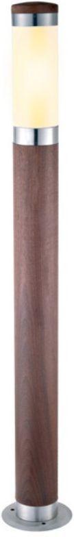 Светильник садовый Duwi Stelo Wood, цвет: дерево, 880 мм. 24113 324113 3Наземный садово-парковый светильник столб-фонарь входит в состав серии Stelo Wood. Высота 88 см. Оригинальные светильники цилиндрической формы, корпус которых изготовлен из высококачественной стали с элементами натурального дерева (тик), подчеркнут ваш стиль и индивидуальность.
