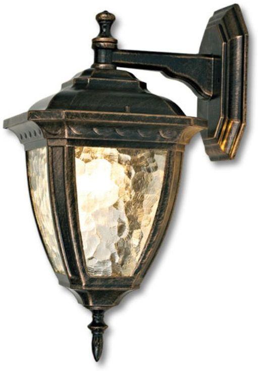Светильник садовый настенный Duwi Marseille, высота 415 мм. 24159 124159 1Настенный садовый светильник Duwi Marseille (бра вниз) имеет классический дизайн с элементами изысканности. Корпус изготовлен из устойчивого к коррозии алюминиевого сплава и окрашен в цвет золотая умбра. Плафон на широком каркасе имеет увеличенный размер. Необычная структура стекла волна мягко рассеивает свет. Задняя крышка снабжена уплотнителем, который надежно защищает электропроводку от внешних воздействий. Изделие имеет монтажный разъем для легкого и быстрого подключения. Возможность использования с любыми лампами, имеющими цоколь E27 (накаливания, энергосберегающими, светодиодными). Светильник работает от сети 220 В, обладает высокой степенью пыле- и влагозащищенности IP44. Светильники Duwi Marseille - идеальное решение для декоративного освещения летних домиков, беседок или садовых дорожек. Садово-парковые светильники под брендом DUWI изготавливаются в соответствии со строгими европейскими стандартами качества.