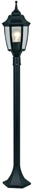 Светильник садовый Duwi Sheffield, цвет: черный, высота 465-765-1075 мм. 25713 425713 4Наземный садовый светильник Duwi Sheffield в средневековом стиле изготовлен из устойчивого к коррозии алюминиевого сплава и покрашен в черный цвет. Фонарь выполнен из прозрачного стекла. Изделие обладает высокой степенью пыле- и влагозащищенности IP44. Отличительная особенность - возможность сборки в трех размерах: 465/765/1075 мм. Задняя крышка снабжена уплотнителем, который надежно защищает электропроводку от внешних воздействий. Изделие снабжено монтажным разъемом для легкого и быстрого подключения. Возможность использования с любыми лампами, имеющими цоколь E27 (накаливания, энергосберегающими, светодиодными). Светильник работает от сети 220 В. Светильники Duwi - идеальное решение для декоративного освещения летних домиков, беседок или садовых дорожек. Светильники серии Sheffield выполнены в духе старой Англии. Их точные строгие линии воплощают стиль и достоинство. Темнота и туман не страшны, когда уютный свет таких фонарей встречает вас у порога.