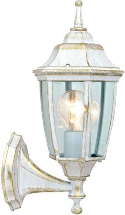 Светильник садовый Duwi Sheffield, цвет: белое золото, 390 мм. 25727 125727 1Настенный светильник бра вверх серии Sheffield выполнен в средневековом стиле. Цвет - белый с золотом.