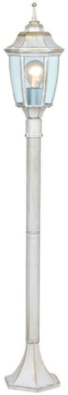 Светильник садовый Duwi Sheffield, цвет: белое золото, высота 465-765-1075 мм. 25730 125730 1Наземный садовый светильник Duwi Sheffield в средневековом стиле изготовлен из устойчивого к коррозии алюминиевого сплава и покрашен в белый цвет с золотым напылением. Фонарь выполнен из прозрачного стекла. Изделие обладает высокой степенью пыле- и влагозащищенности IP44. Отличительная особенность - возможность сборки в трех размерах: 465/765/1075 мм. Задняя крышка снабжена уплотнителем, который надежно защищает электропроводку от внешних воздействий. Изделие снабжено монтажным разъемом для легкого и быстрого подключения. Возможность использования с любыми лампами, имеющими цоколь E27 (накаливания, энергосберегающими, светодиодными). Светильник работает от сети 220 В. Светильники Duwi - идеальное решение для декоративного освещения летних домиков, беседок или садовых дорожек. Светильники серии Sheffield выполнены в духе старой Англии. Их точные строгие линии воплощают стиль и достоинство. Темнота и туман не страшны, когда уютный свет таких фонарей встречает вас у порога.