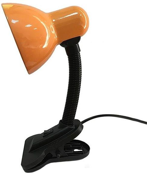 Светильник настольный REV Прищепка, цвет: оранжевый. 25050 025050 0_оранжевыйСветильник настольный REV предназначен для местного освещения в офисе или дома. Идеально подходит для чтения и выполнения домашних заданий детьми, равно как и для работы с бумагами или за компьютером. С помощью гибкой ножки можно регулировать направление излучаемого света. Специальное крепление-прищепка позволяет установить лампу на край стола или полки при недостаточном рабочем пространстве. На прищепке расположена кнопка включения/выключения. Светильник работает от сети 220V.