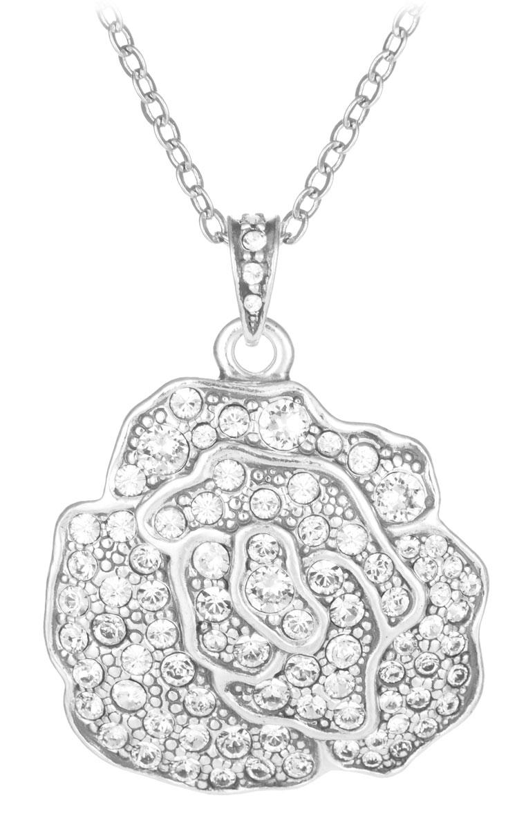 Кулон Jenavi Лино, цвет: серебряный, белый. v6273900АромакулонКулон Jenavi Лино выполнен в виде розы из гипоаллергенного ювелирного сплава с покрытием из черненого серебра, а также оформлен кристаллами Swarovski.Кулон дополнен цепочкой с классическим плетением, которая застегивается на замок-карабин. Длина изделия регулируется за счет дополнительных звеньев.Кулон Jenavi Лино поможет дополнить любой образ и привнести в него завершающий штрих.