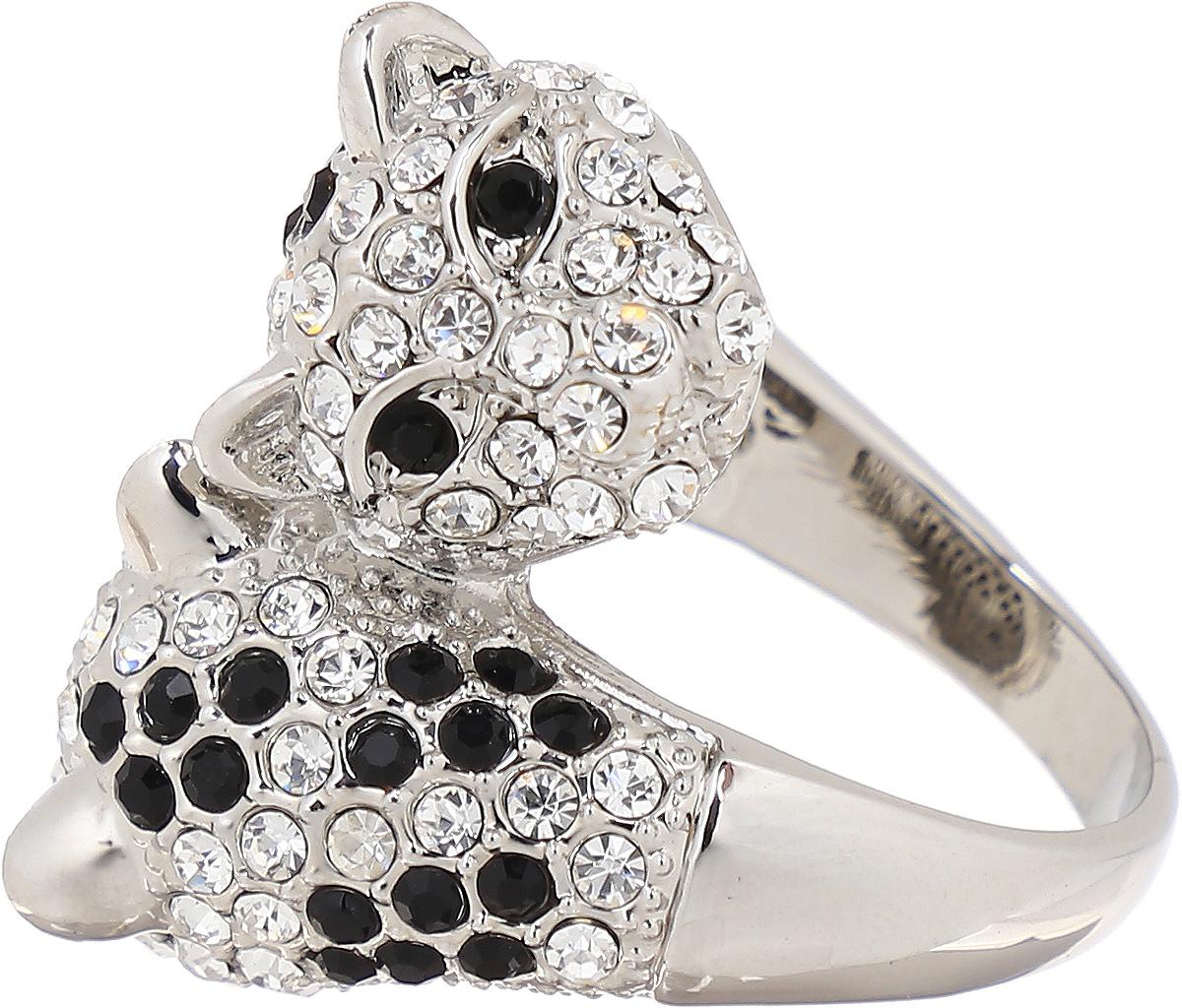 Кольцо Taya, цвет: серебристый. T-B-8106. Размер 18Брошь-кулонСтильное кольцо Taya выполнено в виде двух голов хищных кошек из металлического сплава, которые оформлены стразами.Оригинальное кольцо Taya превосходно дополнит ваш образ и подчеркнет отменное чувство стиля своей обладательницы.
