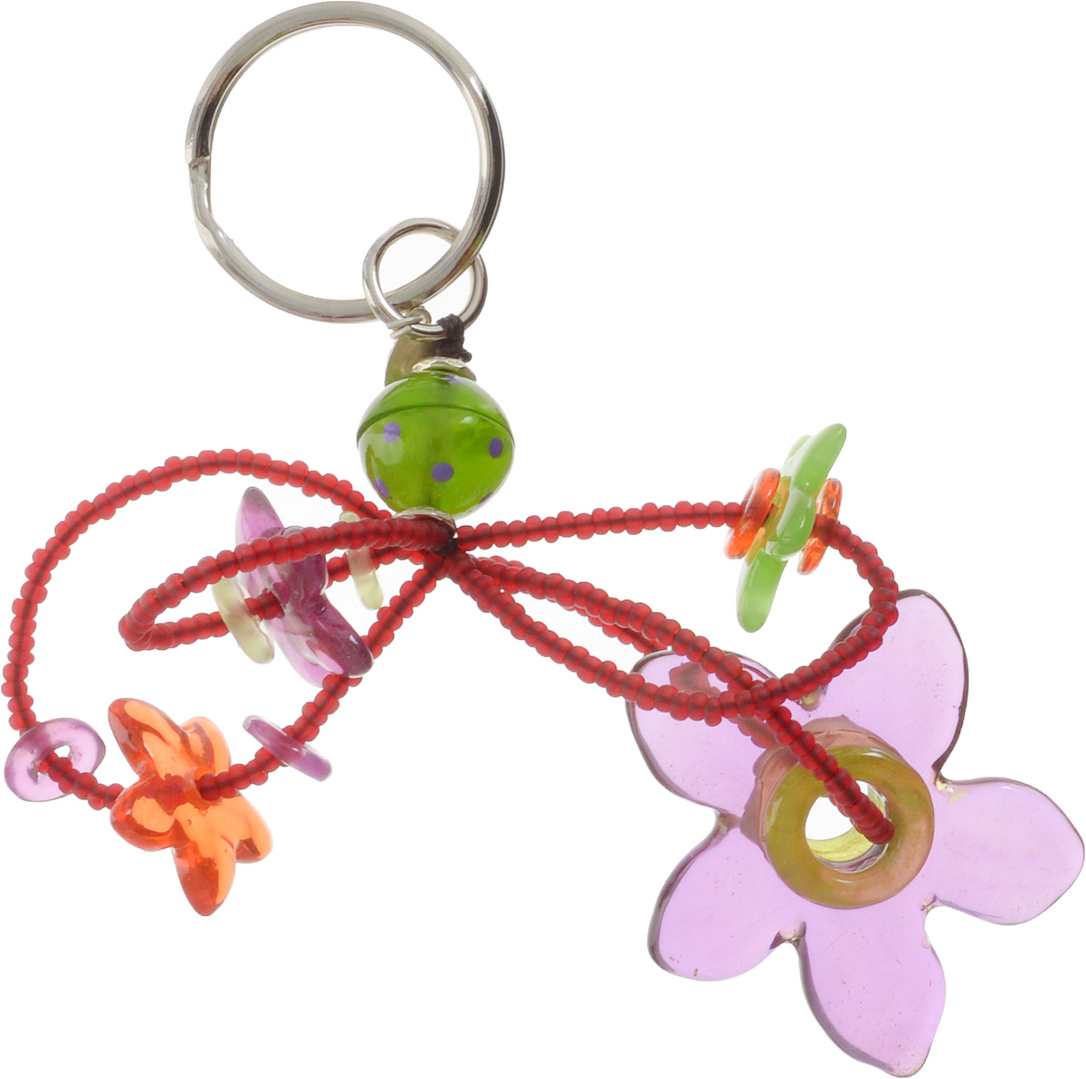 Брелок Lalo Treasures, цвет: сиреневый, зеленый. KR486697161Брелок Lalo Treasures изготовлен из ювелирной смолы ярких цветов. Он оформлен подвесными цветочками и крепится к кольцу с помощью крепкого шнурка.Оригинальный брелок подчеркнет вашу индивидуальность, а также станет отличным подарком для любительниц модных новинок в мире аксессуаров.