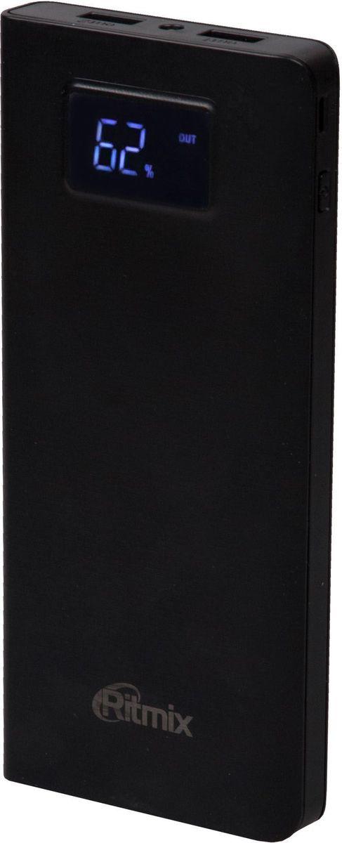 Ritmix RPB-15001P, Black внешний аккумулятор (15000 мАч) ritmix rdf 1018 black цифровая фоторамка