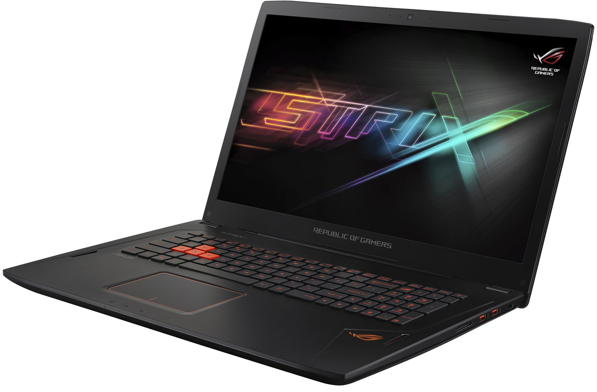ASUS ROG GL702VM (GL702VM-GC035T)GL702VM-GC035TНоутбук ASUS ROG GL702VM - это мощный процессор Intel и геймерская видеокарта NVIDIA GeForce GTX в компактном и легком корпусе. С этим мобильным компьютером вы сможете играть в любимые игры где угодно.В аппаратную конфигурацию ноутбука ROG GL702VM входит процессор Intel Core i7-6700HQ шестого поколения и дискретная видеокарта NVIDIA GeForce GTX 1060 с поддержкой Microsoft DirectX 12. Мощные компоненты обеспечивают высокую скорость в современных играх и тяжелых приложениях, например при редактировании видео.Видеокарта NVIDIA GeForce GTX 1060 предлагает полную совместимость с современными системами виртуальной реальности и высокую производительность, необходимую для их надлежащей работы.Ноутбук ROG GL702VM - это тонкое (24,7 мм) и довольно легкое (2,7 кг) устройство, учитывая тот факт, что он представляет собой полноценную геймерскую платформу. Он без труда поместится в сумку или рюкзак и позволит своему владельцу окунуться в современные компьютерные игры в любом месте и в любое время.ROG GL702VM оснащается 17-дюймовым дисплеем с широкими (178°) углами обзора, разрешение которого составляет 1920x1080 (Full-HD) пикселей. Дисплей данного ноутбука отличается суженной экранной рамкой. Ее толщина составляет всего 17 мм сверху и 13 мм по краям.В ноутбуке ROG GL702VM реализована технология NVIDIA G-SYNC, синхронизирующая частоту обновления экрана с частотой вывода кадров графическим процессором. Благодаря G-SYNC устраняется неприятный эффект разрыва кадра и уменьшается задержка отображения, что обеспечивает как более высокое качество картинки, так и улучшенную реакцию игры на действия пользователя.В ноутбуке ROG GL702VM применяется высокоэффективная система охлаждения с тепловыми трубками и тремя вентиляторами, независимо друг от друга обслуживающими центральный и графический процессоры. Продуманное охлаждение - залог стабильной работы мобильного компьютера даже во время самых жарких виртуальных сражений!Специалистам ASUS пришло