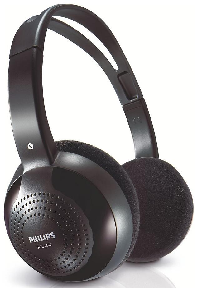 Philips SHC1300SHC1300/10Наслаждайтесь свободой без проводов! Легкая конструкция и удобные амбушюры обеспечивают комфорт дажепри длительном использовании.Прочные, легкие и качественные материалы повышают уровень комфорта при продолжительном ношении.Простая и удобная регулировкаИспользование модуляции очень высоких радиочастот (RF) в тракте передачи обеспечивает чистый и четкийприем.Вам не нужно покупать батареи для того, чтобы начать пользоваться этим устройством. Просто вставьтебатареи и вперед!Для работы наушников необходимо докупить 2 батарейки напряжением 1,5V типа ААA (не входят в комплект).