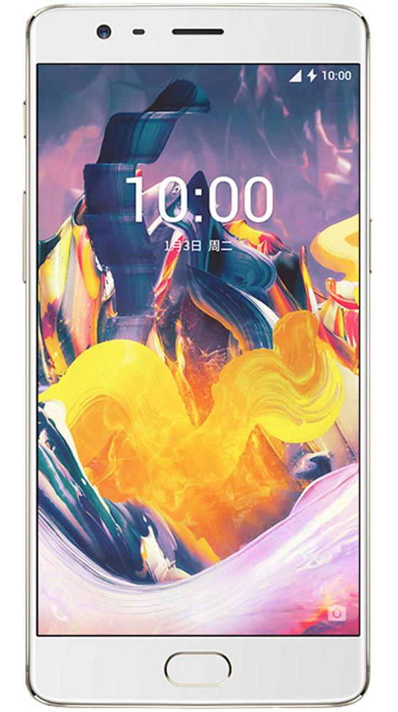 OnePlus 3T, Soft Gold0101090211OnePlus 3T является обновленной и улучшенной версией OnePlus 3. Благодаря процессору Qualcomm Snapdragon 821 устройство работает на 10% быстрее и экономит заряд на 5% лучше, чем его предшественник. OnePlus 3T работает под управлением собственной оболочки Oxygen OS 4.0, созданной на основе Android 7.0 Nougat. Емкость аккумулятора увеличена с 3000 до 3400 мАч.Отдельно стоит сказать о камере, благодаря которой OnePlus 3T может соперничать с флагманами самых известных брендов. Смартфон оснащен 16-мегаписельным сенсором Sony IMX298 и диафрагмой f2.0, кроме того в обновленной модели производитель улучшил работу оптической стабилизации (OIS) и обновил электронную (EIS) до версии 2.0.Неизменными остались следующие технические характеристики: диагональ дисплея (5,5 дюйма), объем оперативной памяти (6 ГБ) иподдержка технологии Dash Charge.Корпус сделан из авиационного алюминия, на котором не остаются отпечатки пальцев. OnePlus 3T доступен в двух вариантах расцветки: темно-серый Gunmetal и золотистый Soft Gold.Телефон сертифицирован EAC и имеет русифицированный интерфейс меню и Руководство пользователя.