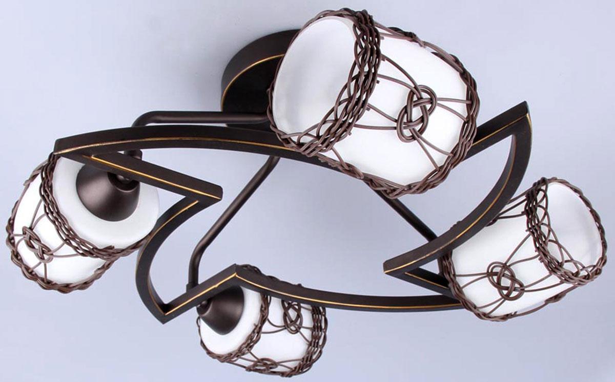 Люстра Vitaluce, 4 х E14, 60W. V4054/4PLV4054/4PLЛюстра Vitaluce, выполненная в классическом стиле, станет украшением вашей комнаты и изысканно дополнит интерьер. Люстра выполнена из качественного металла с плафонами из прочного стекла.В коллекциях Люстр Vitaluce представлены разные стили - от классики до хайтека. При разработке и создании новых изделий тщательно подобраны все элементы и комплектующие, а также контролируется высокое качество на каждом этапе производства, большое внимание уделяется подбору цвета и декорированию изделия, что делает светильники гармоничными и законченными.