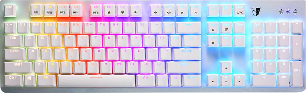 Tesoro Gram Spectrum (Kailh Red), White игровая клавиатураTS-G11SFL WHTGram Spectrum - это механическая клавиатура, оборудованная фирменными механическими переключателями от Tesoro - AGILE.Новые переключатели имеют уменьшенную высоту и длину хода по сравнению с переключателями стандартного размера. Однако, при всем этом, инженерам компании удалось сохранить основные характеристики полноразмерных кнопок - тактильные ощущения, скорость и точность срабатывания.Клавиатура Gram Spectrum имеет полноцветную RGB подсветку.В данной клавиатуре установлены переключатели AGILE Kailh Red - только профессиональный игрок сможет использовать этот потенциал. Пониженное усилие нажатия. Не имеют щелчка. Не имеют отдачи.